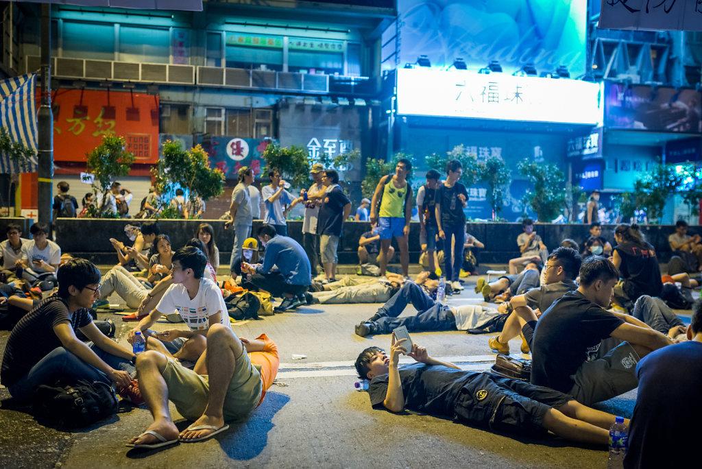 A street near Mong Kok station