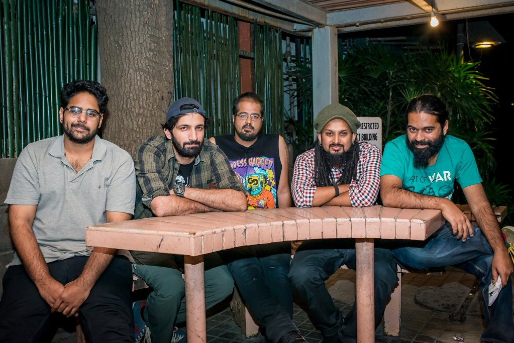 Alternative / Post Grunge band BLAKC, before their show at Hard Rock Cafe Worli